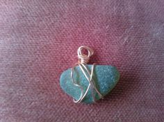 Green Sea Glass I made from the St Ives coast in Cornwall.