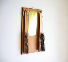 // Antique Mirror and Coat Brushes