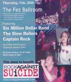 [Rock Against Suicide/Oregon 501c3] Founded and led Rock Against Suicide, an Oregon NPO using social media and live music events to unite students to prevent teen suicide. Designed, wrote, and deployed all media from RAS.