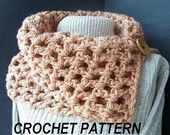 Crochet Pattern CHUNKY RIDGED COWL num 106 or Scarf by Carlitto