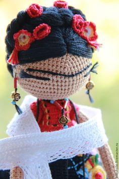 Фрида - фрида,Фрида Кало,кукла ручной работы,авторская кукла,кукла,вязаная игрушка