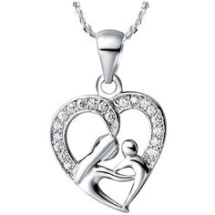 Check out Mothers Day, Gifts for Mom, 925 Sterling Silver Necklace, Fashion Necklaces for Women, Wholesale, Silver Pendant, for mom, gift for mother on melindajewelrystore