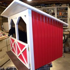 Horse stable barn for American Girl size dolls