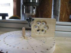 Wooden Models #166: Mag Wheel Making Jig - by htl @ LumberJocks.com ~ woodworking community Wooden Toy Wheels, Diy Wooden Toys Plans, Wooden Toy Trucks, Wooden Plane, Making Wooden Toys, Wooden Wheel, Wooden Diy, Woodworking Jigs, Woodworking Projects