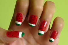 Watermelon nails #nails #nailart