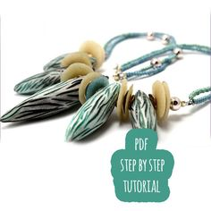 PDF polymer clay turorial / frozen necklace