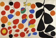 "themodernartists: ""Alexander Calder (1898-1976), Hanging Spirals, 1970. Gouache and ink on paper. """