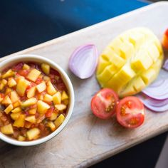 Enjoy this easy mango salsa recipe as a dip or on your favorite taco! Mango salsa so easy to make you'll be eating in no time.