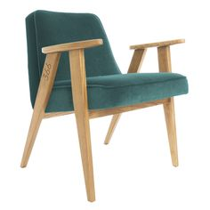 The masterpiece of mid-century design - iconic model 366 Easy Chair, designed by Józef Chierowski in 1962, reissued by 366 Concept in 2014. <br><br> - Authentic design. <br> - Safe and eco-friendly water-based varnishes and glues.<br> - STAIN RESISTANT fabrics, available in 20 colours.<br> - Only top quality solid wood. Available in 6 colours. <br> NOTE: Wood colour visible in product pictures - Oak.