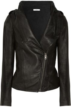 Helmut Lang Helmut Hooded Washedleather Jacket