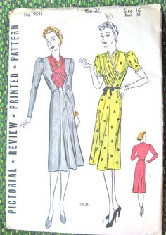 UNcut 1930s Pictorial Review Printed pattern 9531.  by Fancywork, $44.00
