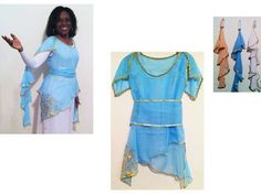Pastels of Praise Dance Cap Sleeve Overlay Top & Sash - Click Image to Close