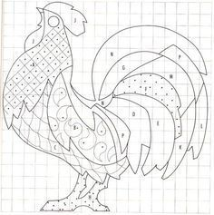 result for Rooster Mosaic Patterns Printable Free Mosaic Patterns, Stained Glass Patterns Free, Barn Quilt Patterns, Applique Patterns, Sewing Patterns, Bird Applique, Wool Applique, Free Pattern, Mosaic Crafts