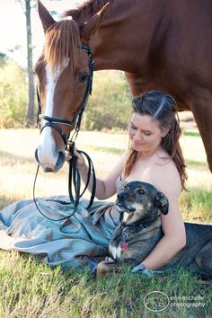 Erin Michelle Photography  Horse, horse and girl, dog