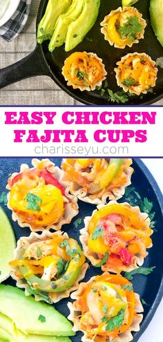 Make these bite size easy chicken fajita cups for a party or to entice those little ones to try something new! My kids don't eat Mexican food as much as I'd like so often times I introduce them to different flavors. This is the perfect way to do that! Easy Toddler Meals, Healthy Meals For Kids, Kids Meals, Healthy Recipes, Easy Recipes, Easy Kid Friendly Dinners, Easy Weeknight Dinners, Quick Easy Meals, Easy Recipe To Make At Home