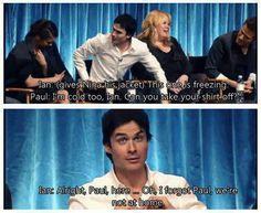 XD oh Ian and Paul X)