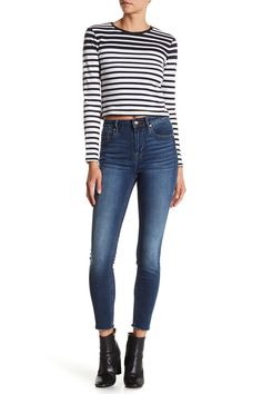 Vigoss - Chelsea High Rise Raw Hem Cropped Skinny Jean is now 46% off. Free Shipping on orders over $100.