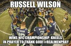 Real men aren't ashamed to pray and give God the glory!