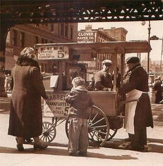 Vintage Photo of a Hot Dog Stand in The Bronx, #New York