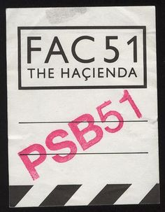 BACKSTAGE PASS THE HACIENDA - 13.05.1992 – MANCHESTER DISTRICT MUSIC ARCHIVE