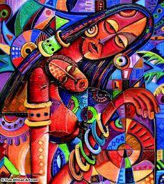 African Artwork, African Art Paintings, Art Paintings For Sale, Famous Black Artists, African Art Projects, Contemporary African Art, African Artists, Afro Art, Tribal Art