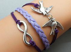 Hey, I found this really awesome Etsy listing at https://www.etsy.com/listing/152514248/infinity-bracelet-doves-bracelet