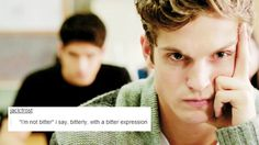 Isaac Lahey from Teen Wolf + tumblr text post