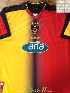 Relive Galatasaray s 2003 2004 season with this original Umbro home football  shirt. Vintage Football 5bcbc620f
