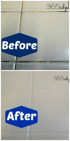 Day 56: Whiten Tile Grout with Vinegar 365ishpins.com #tile #cleaners #vinegar #natural #grout