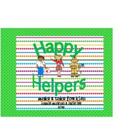 This cute little pack has 7 different people for your students to make who work in our communities.  Directions and patterns are included to make t...