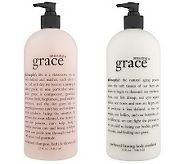 Amazing Grace smells so good...the lotion is a firming emulsion.  Need I say more :)