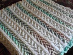 Arrow Stitch Crochet Afghan Pattern | FaveCrafts.com~free crochet pattern~