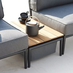Shop Conic Box Table by Cane-line. Scandinavian Minimalist Indoor and Outdoor Garden and Patio Furniture. Dining and Lounge Chairs, Sofas, Tables, Cushions. Modern Outdoor Coffee Tables, Outdoor Box, Outdoor Daybed, Cool Coffee Tables, Outdoor Lounge, Weathered Furniture, Porch Furniture, Outdoor Furniture, Garden Furniture