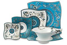 #Vibrant and #intricate Samarah turquoise collection