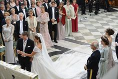 """The wedding ceremony; wedding of Princess Madeleine of Sweden and mr. Christopher """"Chris"""" O'Neill, June 8th 2013"""