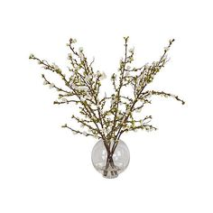 """31"""" Cherry Blossom Arrangement - Faux Arrangements ($299) ❤ liked on Polyvore featuring home, home decor, floral decor, decorative accessories, floral home decor, artificial arrangement, cherry blossom home decor and handmade home decor"""