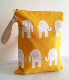 Elephant Wet Bag Large by LilTotWonder on Etsy