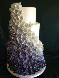 ombre shading - wedding cake