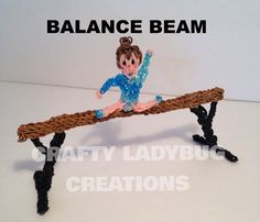 Rainbow Loom Charm BALANCE BEAM PART 1 How to Make by Crafty Ladybug