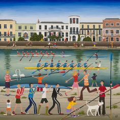 Louise Braithwaite - Naive Artist - The Boat Race Exhibitor at Winchester Christmas Market, November 2013.