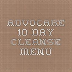 AdvoCare 10 Day Cleanse Menu
