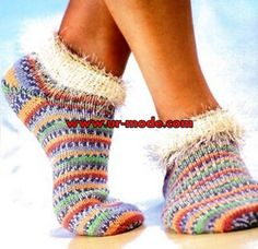 Sock Knitting Pattern colorful