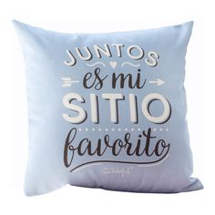 Cojín Mr Wonderful Juntos es mi Sitio Favorito