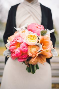 Bouquet I created for Kristine. Shot by Sara Wilde Photography. Featured on Style Me Pretty Canada!