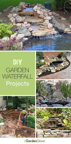 DIY Garden Waterfalls Ideas Tutorials - I can't believe my husband doesn't want… Unique Garden, Diy Garden, Dream Garden, Lawn And Garden, Garden Landscaping, Balcony Garden, Landscaping Ideas, Garden Art, Backyard Projects