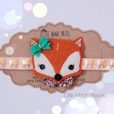 Woodland Fox Headband Glitter Hair Band by LittleMagicPieces                                                                                                                                                                                 More
