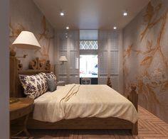 Спальня в классическом стиле, усовремененные мотивы колониальности и классики плюс зонирование