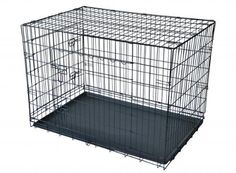 2 Doors Wire Folding Suitcase Dog Cat Crate Cage w/Divider Kennel Pen w/Tray LC,SIZE 36' => To view further, visit now : Dog cages