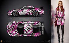 Fashion girl and your fashion car!