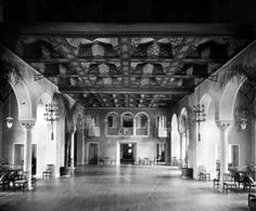 The Everglades Club is a social club located in Palm Beach, FL. Originally a hospital designed by Addison Mizner and Paris Singer, the building was turned into a private club after World War I. This photo was taken circa Florida City, Palm Beach Florida, Palm Beach County, Florida Usa, West Palm Beach, South Florida, Chicago At Night, Revival Architecture, Hospital Design
